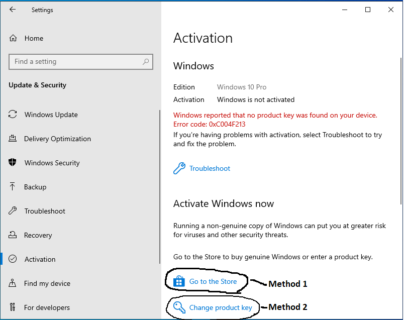 Activate Windows - Activation