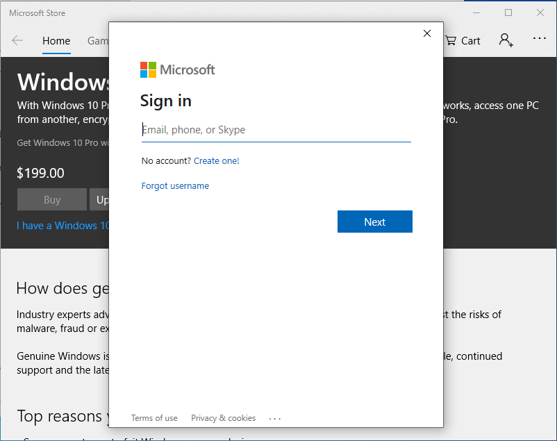 Activate Windows - Sign In