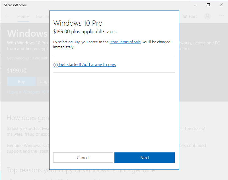 Activate Windows - Purchase