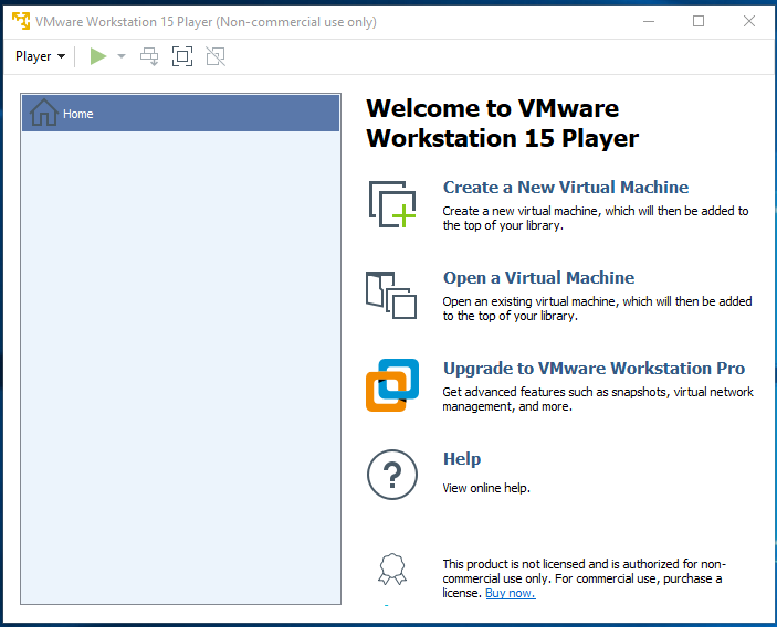 VMware Workstation Player - Home