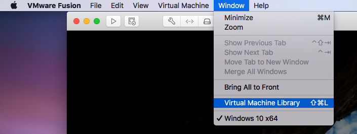 VMware Fusion - View Library