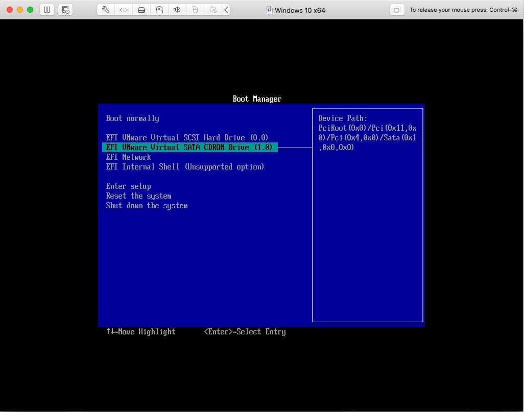Windows - VMware Fusion - Install Media