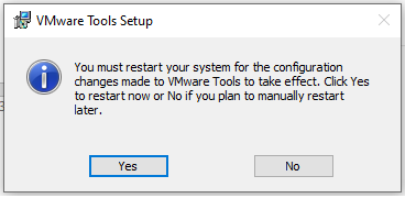 Windows - VMware Tools - Restart