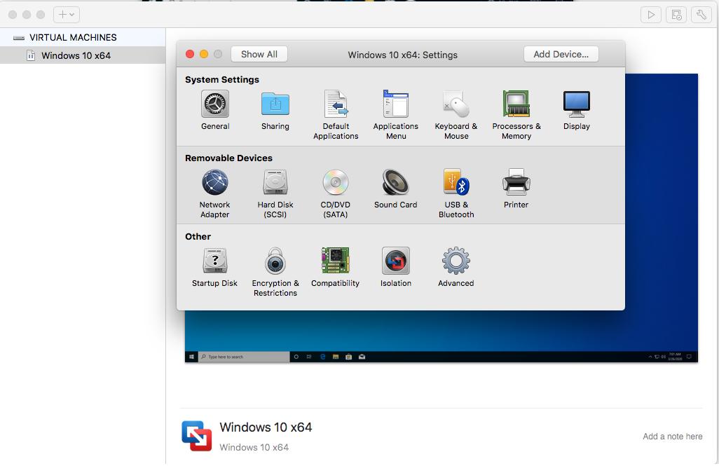 Windows - VMware Fusion - Configure