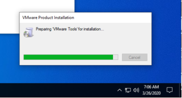 Windows - VMware Tools - Progress