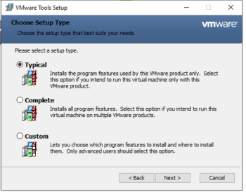 Windows - VMware Tools - Type