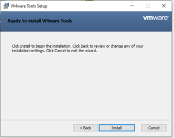 Windows - VMware Tools - Install