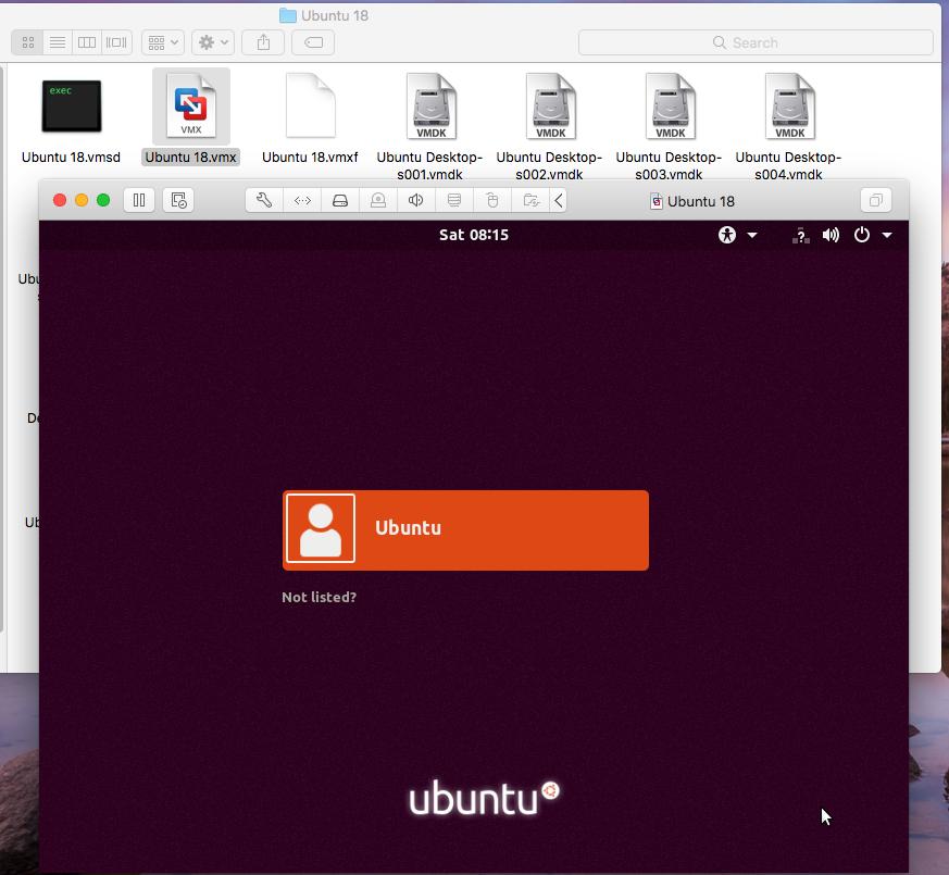 VMware Fusion - Windows Virtual Machine - Login