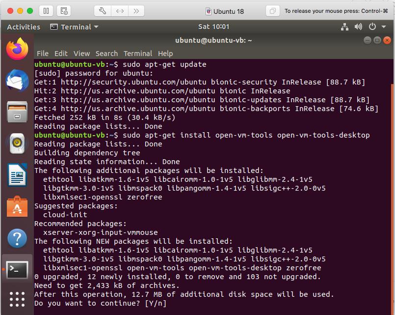 Vmware Fusion - Ubuntu - VMware Tools