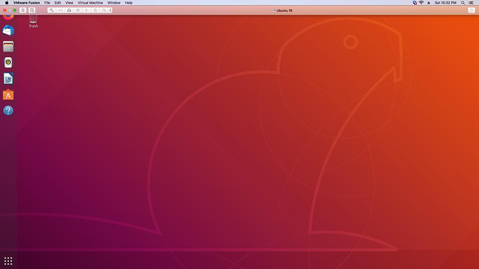 Vmware Fusion - Ubuntu - Desktop