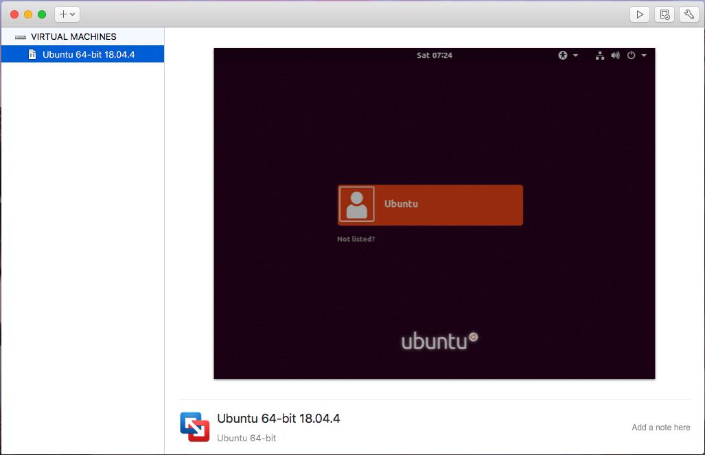 VMware Fusion - Snapshot
