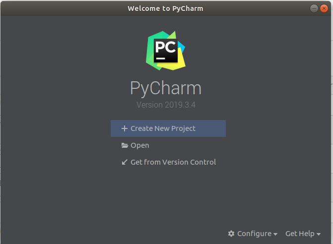 PyCharm - Welcome Screen