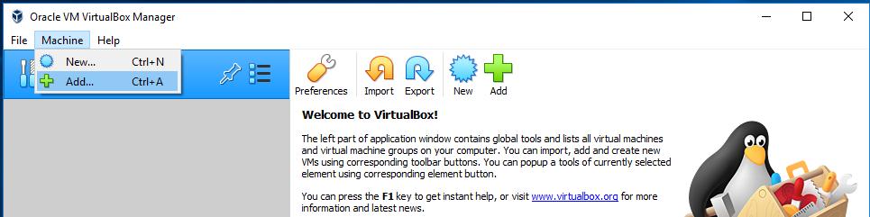 VirtualBox Open
