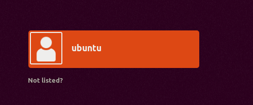 Ubuntu on VirtualBox - Login