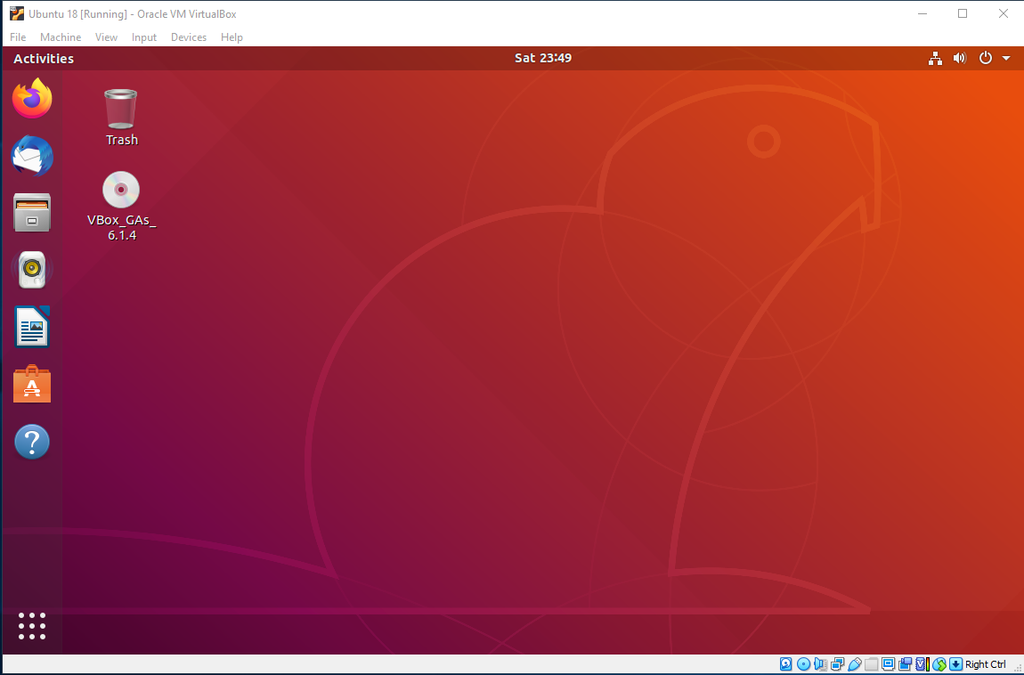 Ubuntu VirtualBox Resize