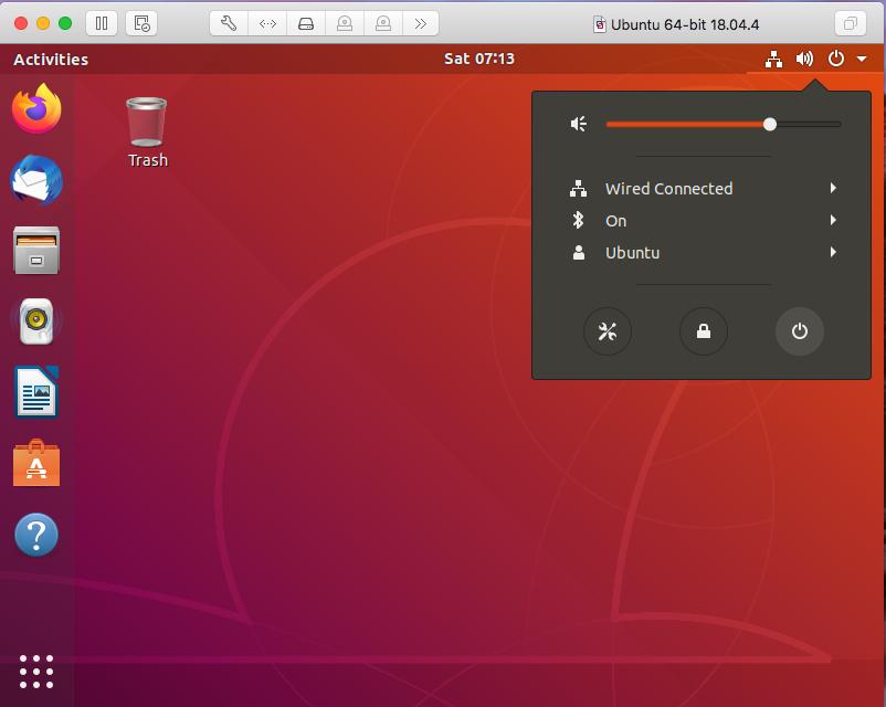 Ubuntu On VMware Fusion - Logout