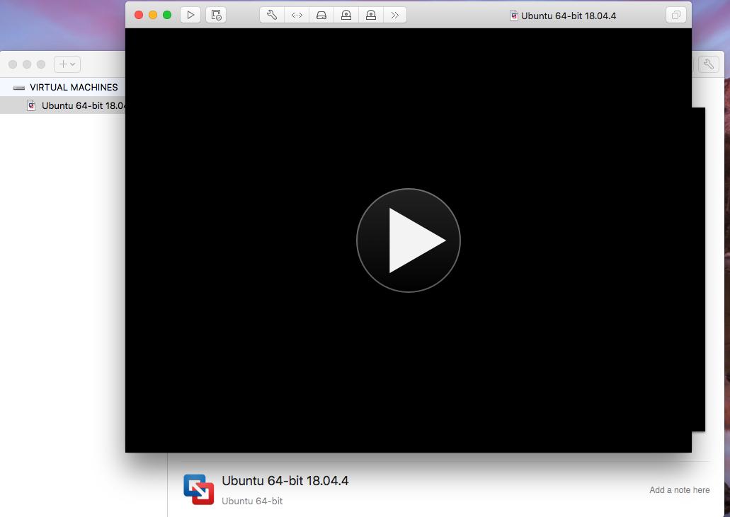 Ubuntu On VMware Fusion - Play