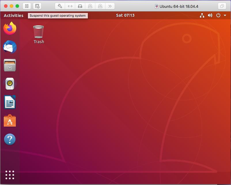 Ubuntu On VMware Fusion - Suspend