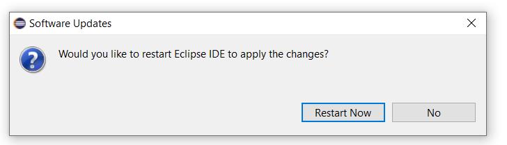 JavaFX - Restart Eclipse
