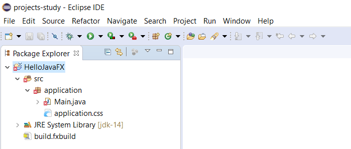 JavaFx - Eclipse - Project