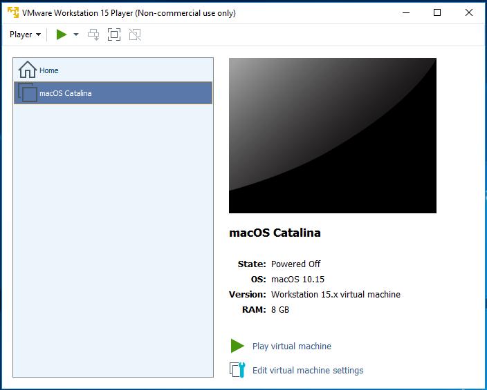 macOS - VMware - Create VM