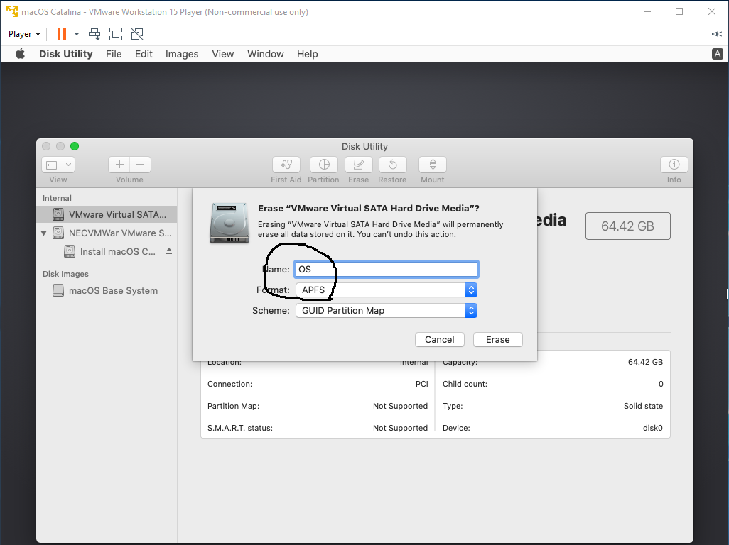 macOS - VMware - Disk