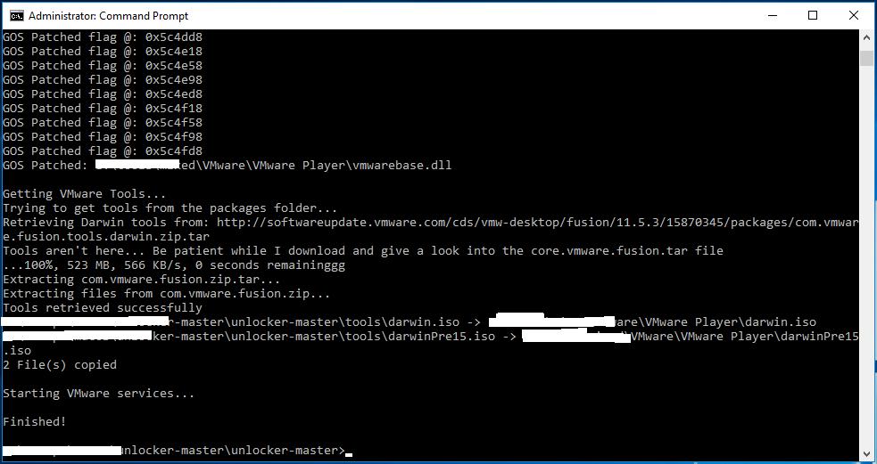 macOS - VMware - Unlocker