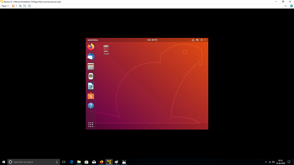 VMware Tools - Ubuntu - Full Screen