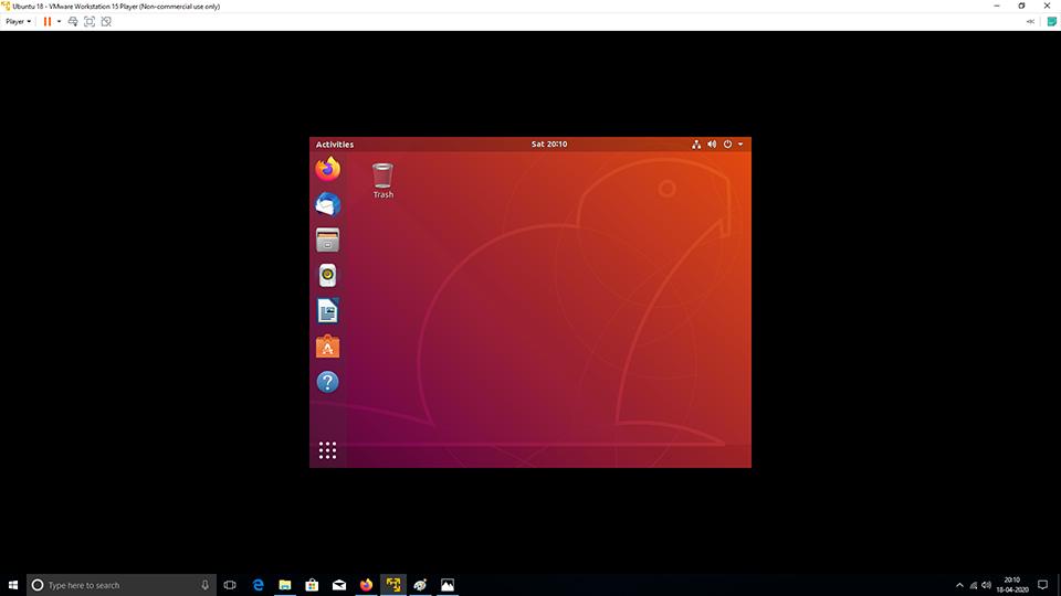 VMware Tools - Ubuntu - Full Screen