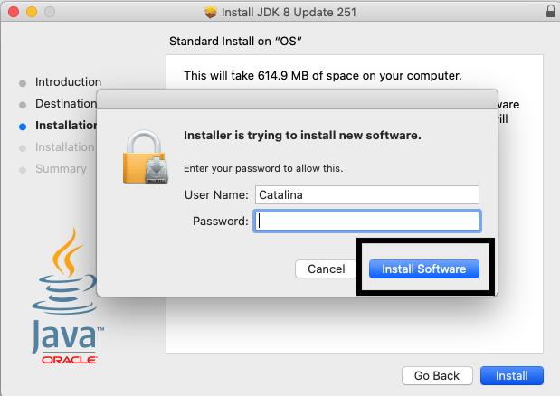 Java 8 - Mac - Install Permission