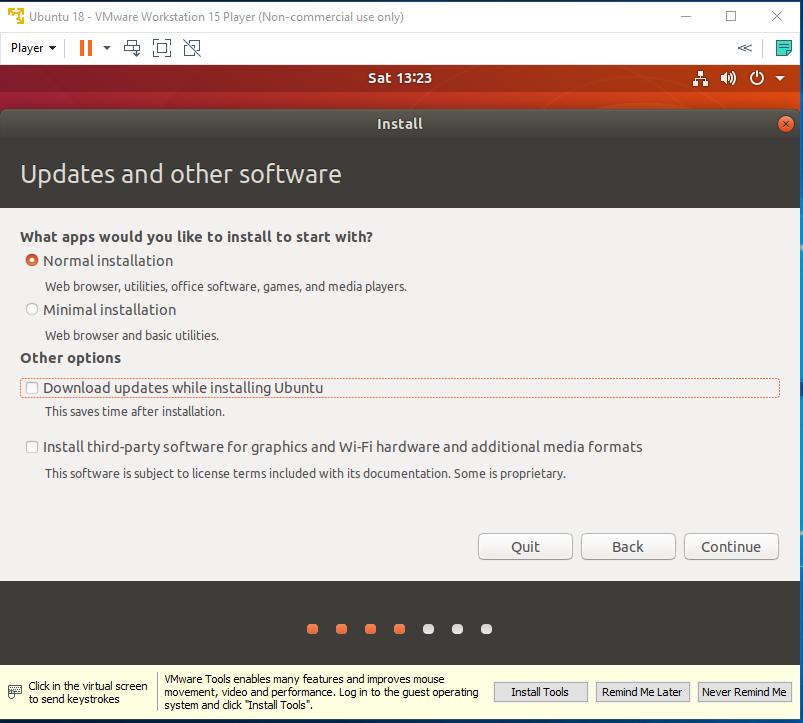 Ubuntu - VMware - Installation Type