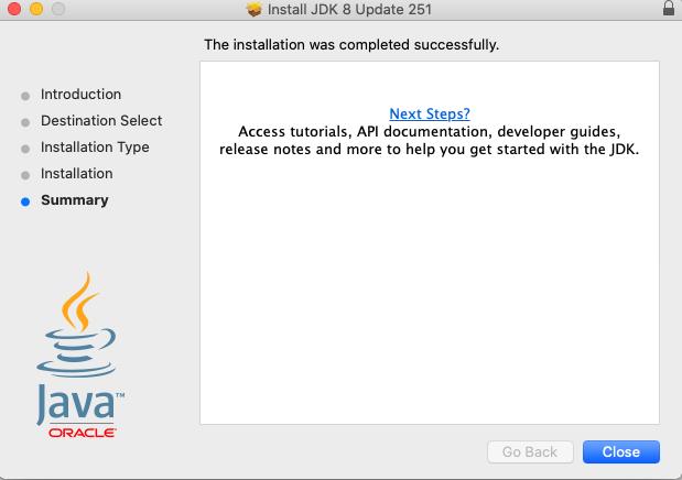 Java 8 - Mac - Installed