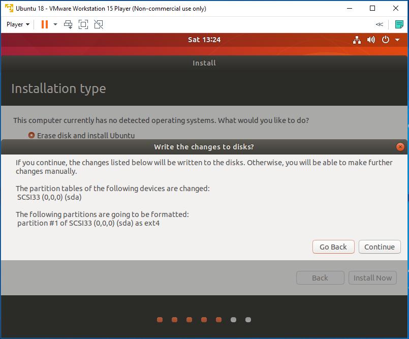 Ubuntu - VMware - Install - Disk