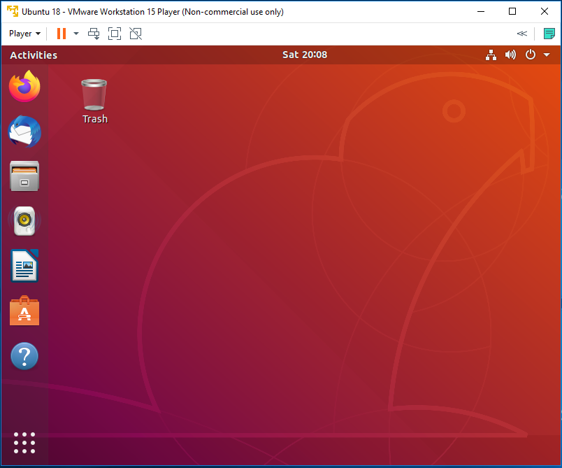 Ubuntu - VMware - Dashboard