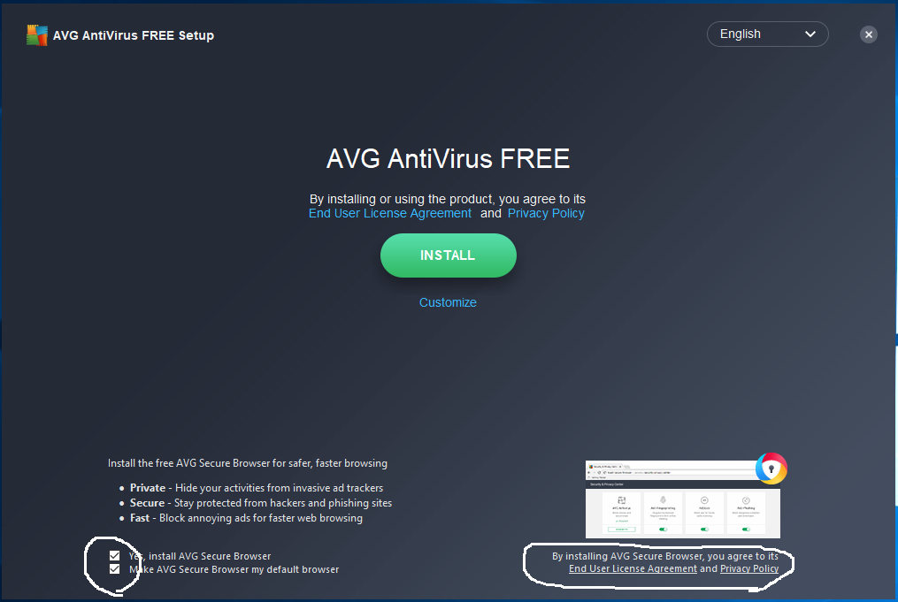 AVG - Install - Welcome Screen