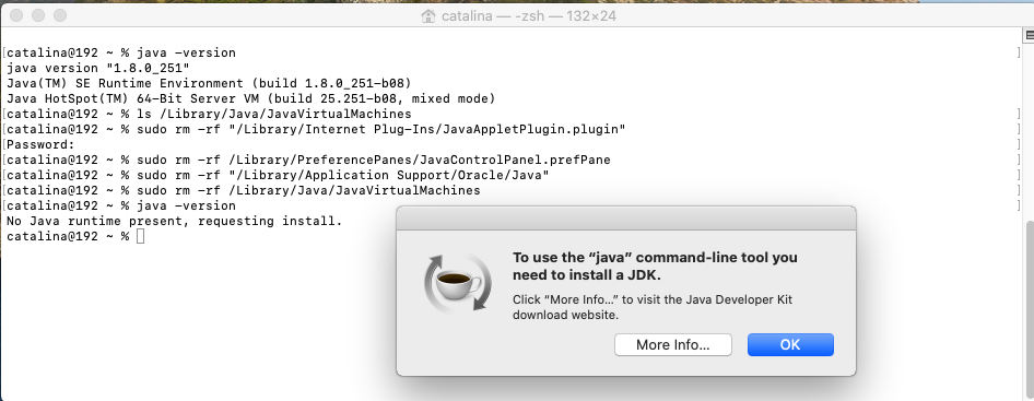 Java - Mac - Uninstall