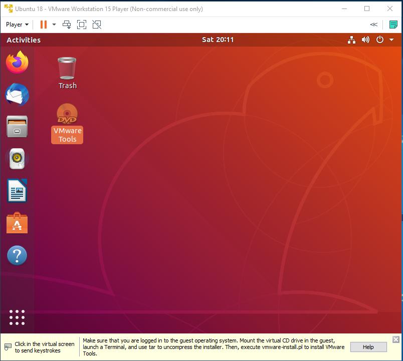 VMware Tools - Ubuntu - DVD