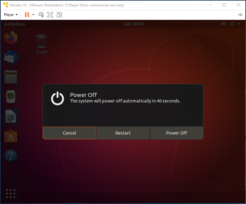 Ubuntu - VMware - Power Off