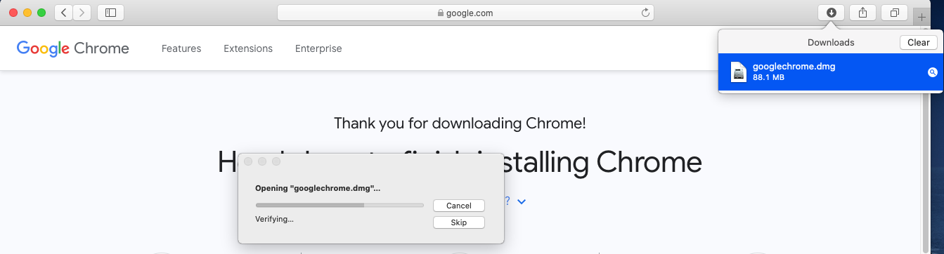 Google Chrome - Mac - Mount