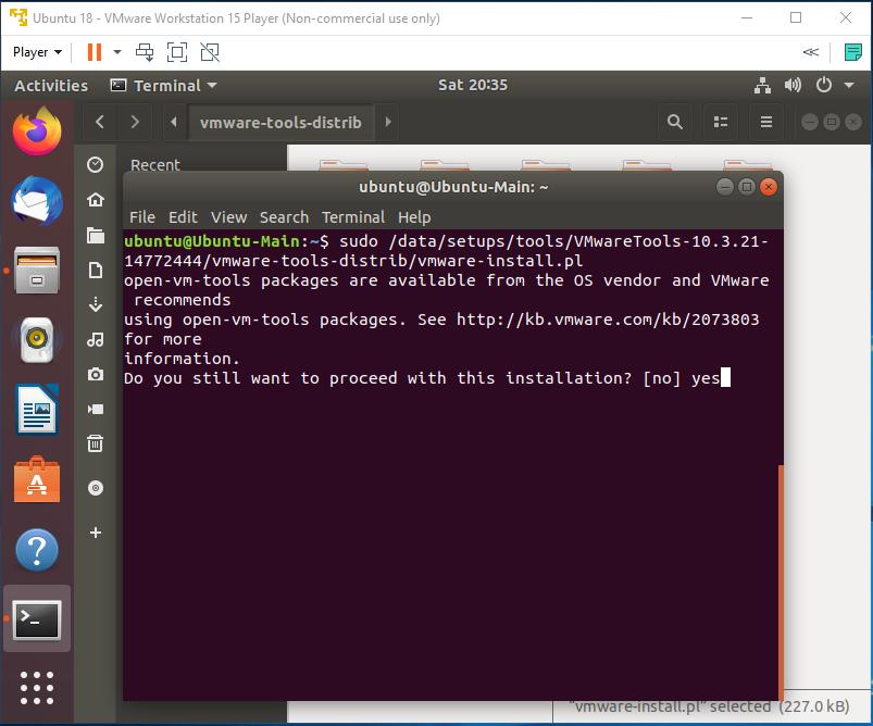 VMware Tools - Ubuntu - Install