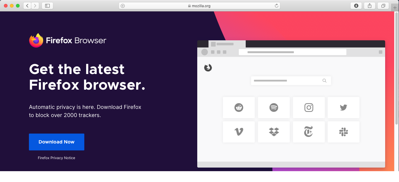 Mozilla Firefox - Mac - Download