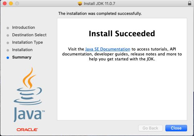 Java 11 - Mac - Installation Success