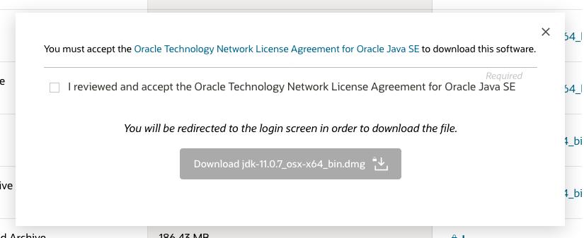 Java 11 - Mac - License