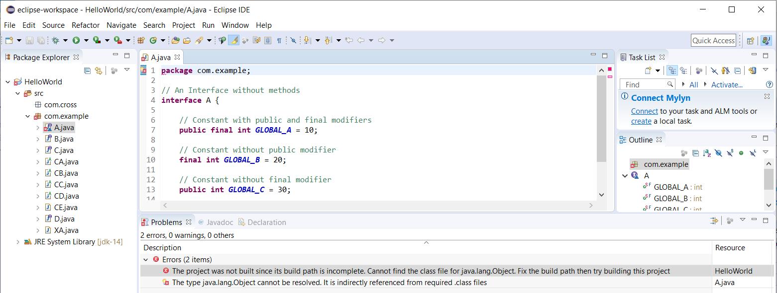 Eclipse - Java - Version - Error