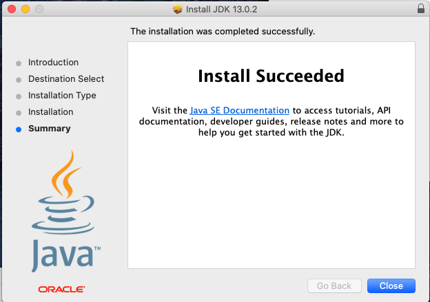 Java 13 - Mac - Installed