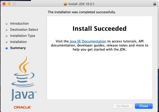 Java 14 - Mac - Installed