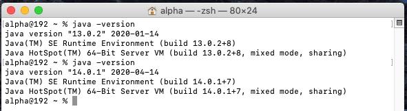 Java 14 - Mac - System Check