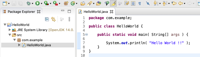 Eclipse for Java - Mac - Program