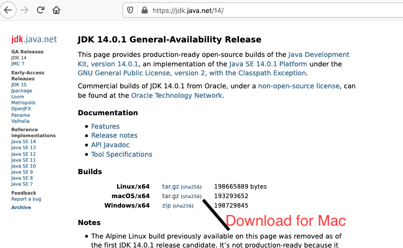 OpenJDK 14 - Mac - Downloads