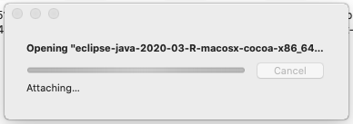 Eclipse for Java - Mac - Mount